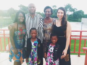 Sabrina Perlman with her Host Family in Ghana