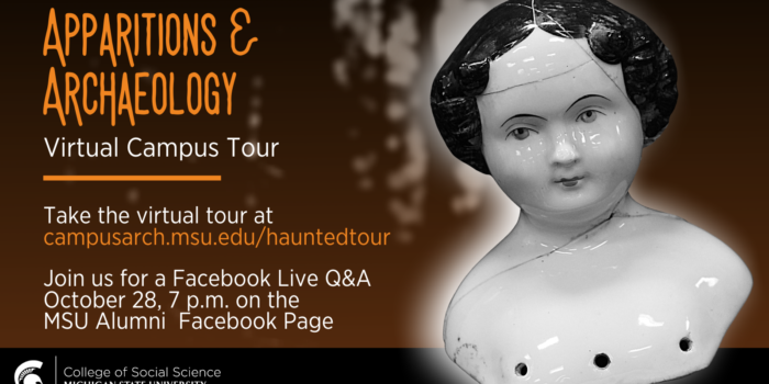 Apparitions & Archaeology Virtual Campus Tour flyer